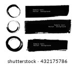 set of black grunge banners and ... | Shutterstock .eps vector #432175786