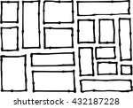 hand drawn rectangle and square ... | Shutterstock .eps vector #432187228