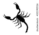 large scorpion silhouette... | Shutterstock .eps vector #432190516