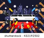 limousine and red carpet | Shutterstock .eps vector #432192502