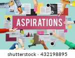 aspiration ambition dream goal... | Shutterstock . vector #432198895