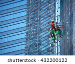 group of workers cleaning... | Shutterstock . vector #432200122