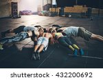 fit young people focused on... | Shutterstock . vector #432200692