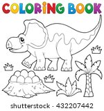 coloring book dinosaur topic 3  ... | Shutterstock .eps vector #432207442