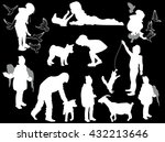 illustration with set of... | Shutterstock .eps vector #432213646
