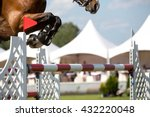 Stock photo equestrian sports horse jumping horse racing themed photo 432220048