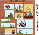 social media post and header... | Shutterstock .eps vector #432224095