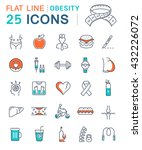 set vector line icons in flat... | Shutterstock .eps vector #432226072