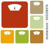 bathroom scale sign | Shutterstock .eps vector #432228376