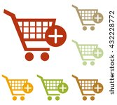 shopping cart with add mark sign | Shutterstock .eps vector #432228772