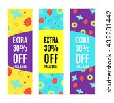 set of sale banners promotion... | Shutterstock .eps vector #432231442
