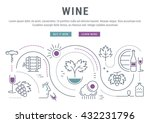 flat line illustration of wine... | Shutterstock .eps vector #432231796