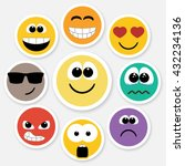 set of different emotions ... | Shutterstock .eps vector #432234136
