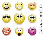 set of different emotions  3d... | Shutterstock .eps vector #432234148