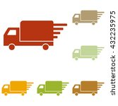 delivery sign illustration