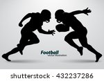 football player silhouette.... | Shutterstock .eps vector #432237286