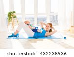 sports mother is engaged in... | Shutterstock . vector #432238936