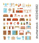 home and office furniture... | Shutterstock .eps vector #432240382