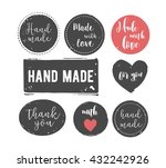 hand drawn  handcrafted ... | Shutterstock .eps vector #432242926