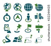 location  place icon set | Shutterstock .eps vector #432244435