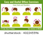 office syndrome infographic.... | Shutterstock .eps vector #432245596