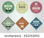set of colored round and square ... | Shutterstock .eps vector #432252052
