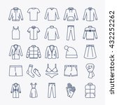 clothes linear icons. vector... | Shutterstock .eps vector #432252262