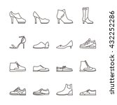 shoes line vector icons.... | Shutterstock .eps vector #432252286