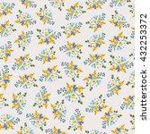 summer floral bouquet seamless... | Shutterstock .eps vector #432253372