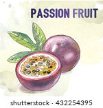 passion fruit tropical vector... | Shutterstock .eps vector #432254395
