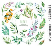 leafy collection.22 handpainted ... | Shutterstock . vector #432258658
