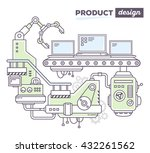 vector illustration of creative ... | Shutterstock .eps vector #432261562