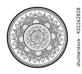 mandala.  oriental pattern. | Shutterstock .eps vector #432262828
