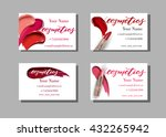 makeup artist business card.... | Shutterstock .eps vector #432265942