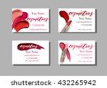makeup artist business card.... | Shutterstock .eps vector #432265942
