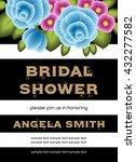 bridal shower invitation... | Shutterstock .eps vector #432277582
