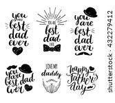 Happy Fathers Day Vintage Logo...