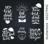 happy fathers day vintage logo... | Shutterstock .eps vector #432279442
