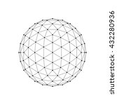 3d icosahedron wireframe mesh... | Shutterstock .eps vector #432280936