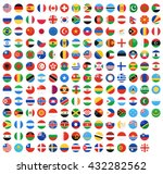 flag of world. vector icons | Shutterstock .eps vector #432282562