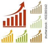 growing graph sign | Shutterstock .eps vector #432283162