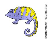 freehand drawn cartoon chameleon | Shutterstock .eps vector #432283312