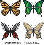 butterfly set | Shutterstock .eps vector #432285562