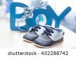 little baby shoes in blue  | Shutterstock . vector #432288742