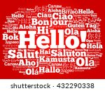 hello word cloud in different... | Shutterstock .eps vector #432290338