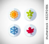 four seasons icon symbol vector ... | Shutterstock .eps vector #432292486