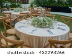 table set for wedding or... | Shutterstock . vector #432293266