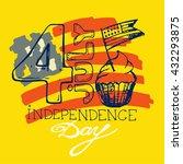 hand drawn banner of american... | Shutterstock .eps vector #432293875
