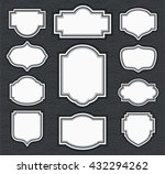 frame classic template. vintage ... | Shutterstock .eps vector #432294262