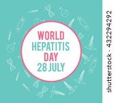 world hepatitis day. hand drawn ... | Shutterstock .eps vector #432294292